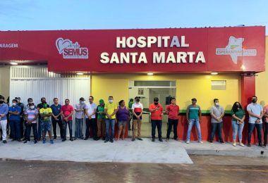 Esperantinópolis: Hildo Rocha participa da inauguração de Hospital que ele ajudou a viabilizar