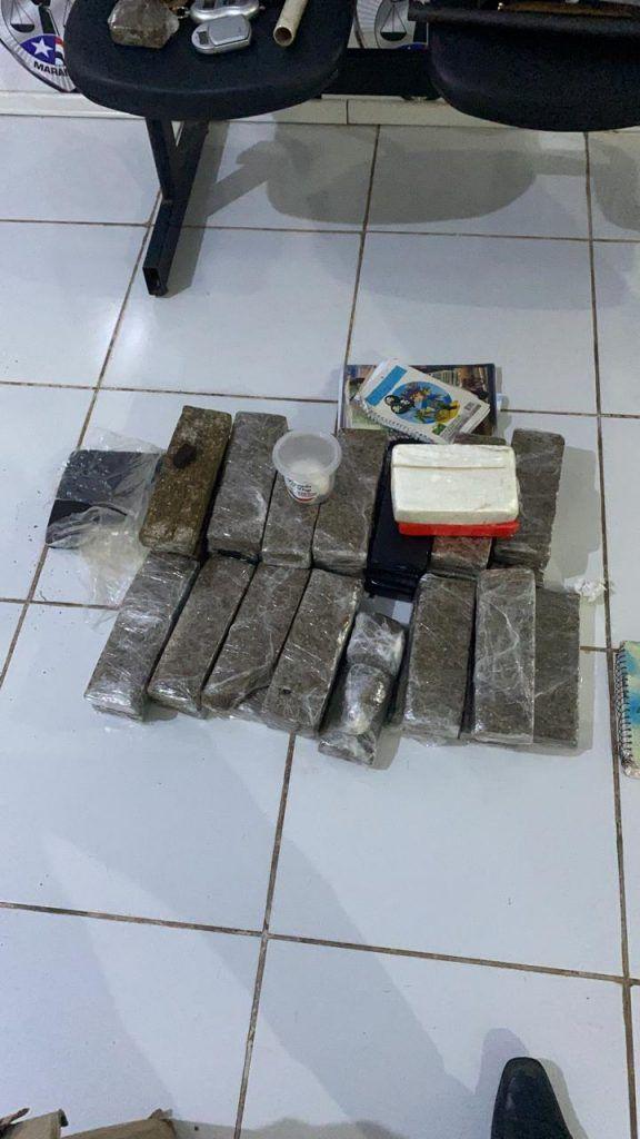 policias militar e civil prendem em flagrante traficante com mais de 30 kg de drogas em barra do corda 1 576x1024 - Polícias Civil e Militar realizam operação e prendem traficante com 30kg de drogas em Barra do Corda