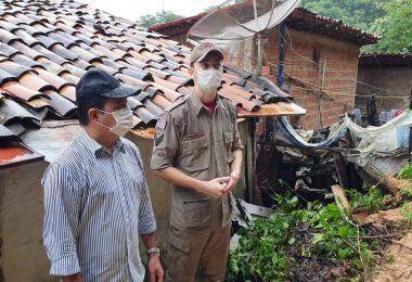 Prefeito Rigo Teles acompanha situação de famílias em meio a deslizamentos provocados pelas chuvas intensas em Barra do Corda