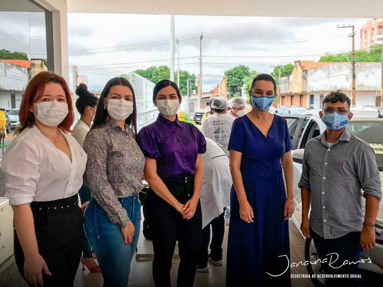 Prefeitura de Imperatriz realiza vacinação drive-thru em idosos acima de 90 anos