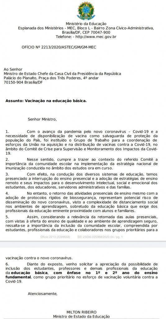 1 534x1024 - Governo inclui profissionais da educação no grupo prioritário de vacinação contra a covid-19