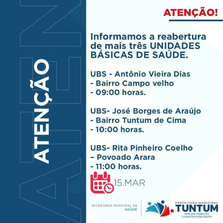 Prefeito Fernando Pessoa entregará nesta segunda-feira(15) mais três UBS e o prédio da Prefeitura de Tuntum totalmente recuperados