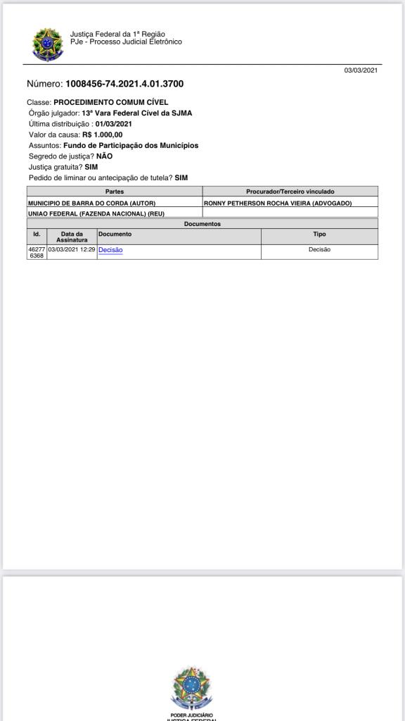 justica federal atende pedido da gestao rigo teles e manda uniao federal desbloquear imediatamente o fpm da prefeitura de barra do corda 576x1024 - Justiça Federal atende pedido da gestão Rigo Teles e manda União Federal desbloquear imediatamente o FPM da prefeitura de Barra do Corda