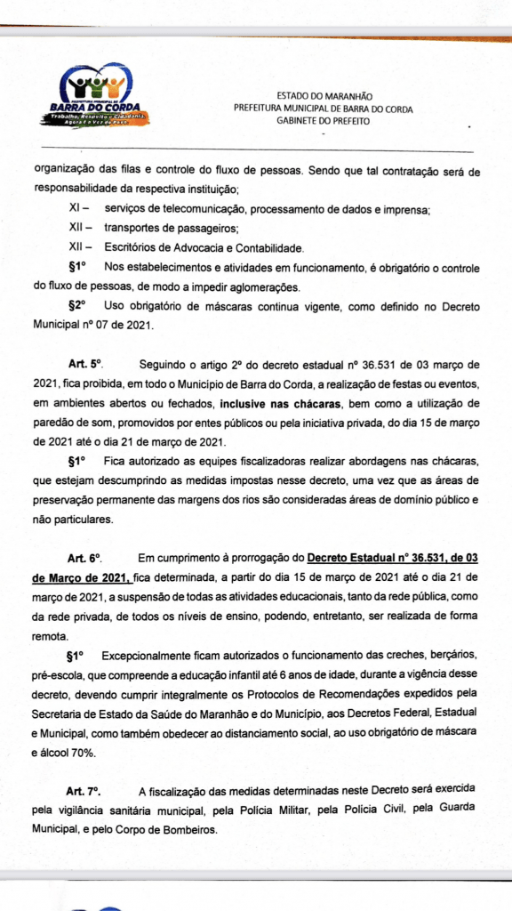 novo decreto assinado pelo prefeito rigo teles sofre alteracoes em barra do corda 3 576x1024 - Novo Decreto assinado pelo prefeito Rigo Teles sofre alterações em Barra do Corda