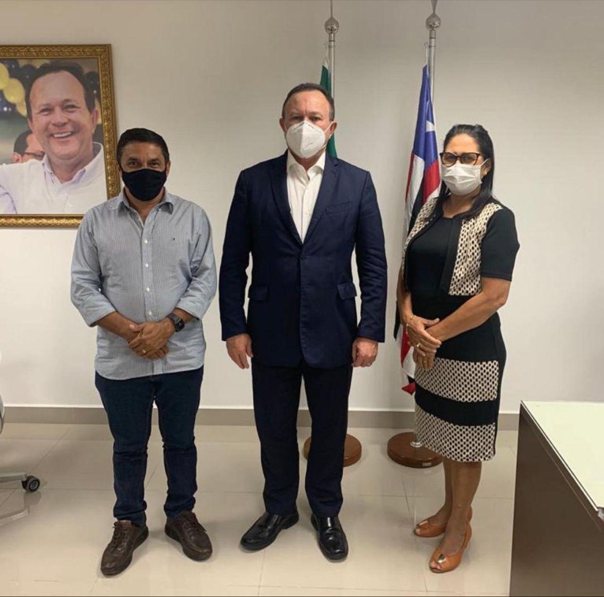 Prefeita Raimunda do Josemar vai ao Palácio dos Leões e se reúne com vice-governador Carlos Brandão