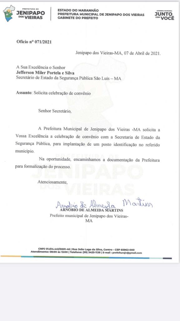 prefeito arnobio consegue junto ao governo do estado posto de identificacao para jenipapo dos vieiras 576x1024 - Prefeito Arnóbio consegue junto ao governo do Estado posto de identificação para Jenipapo dos Vieiras