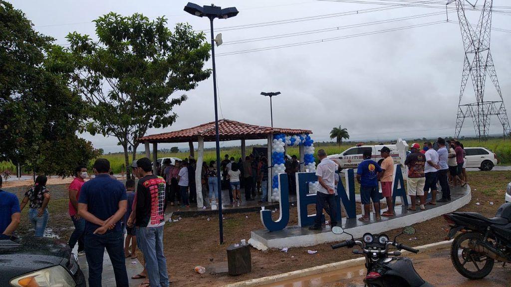 prefeito arnobio reinaugura entrada da cidade de jenipapo dos vieiras 1 1024x576 - Prefeito Arnóbio reinaugura entrada da cidade de Jenipapo dos Vieiras