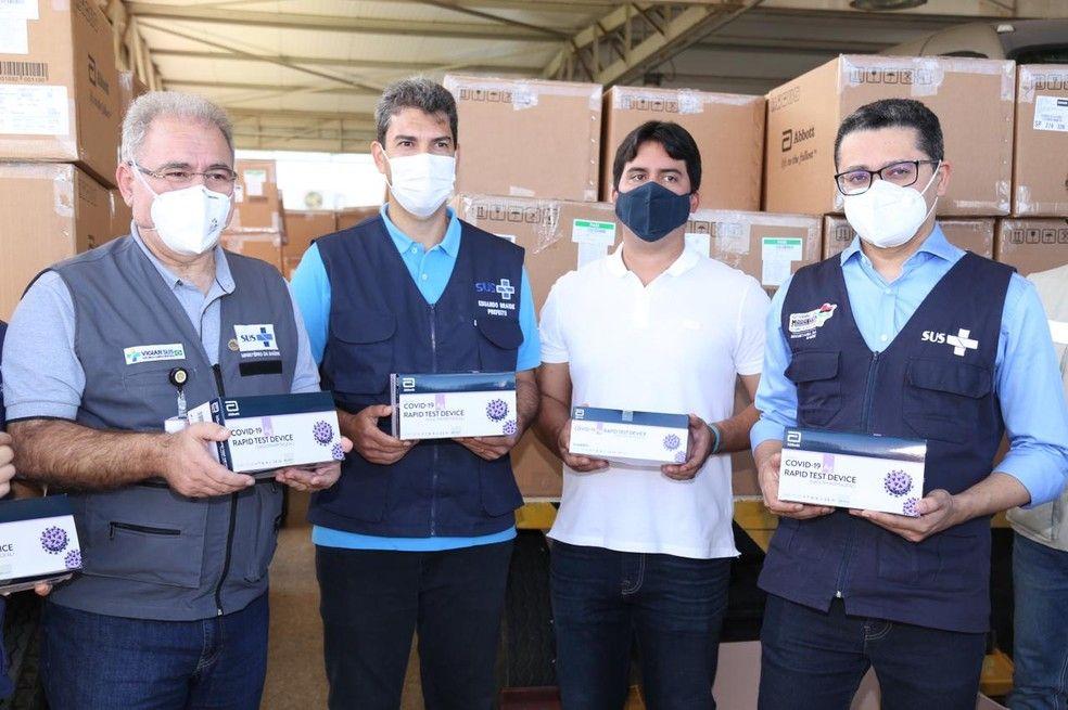 Ministro da Saúde anuncia envio de quase 300 mil doses a mais de vacinas contra a Covid-19 para o Maranhão