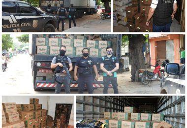 Presos em Barra do Corda pela Polícia Civil três empresários acusados de roubar carga com 970 caixas de óleo comestível