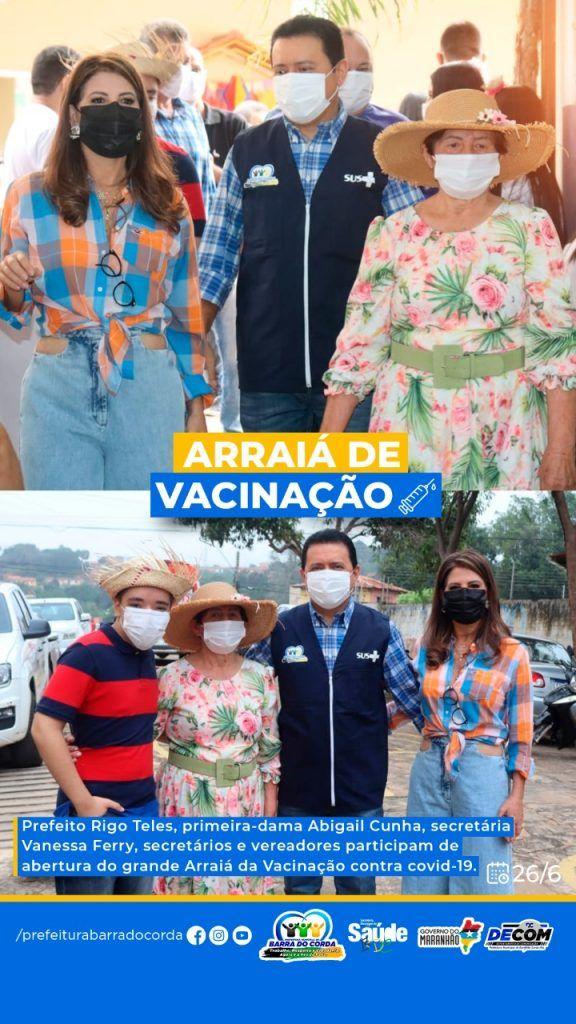 2606 prefeitura de barra do corda vacina em arraia da vacinacao quase 6 mil pessoas em um unico dia 1 576x1024 - 26/06: Prefeitura de Barra do Corda vacina em Arraiá da Vacinação quase 6 mil pessoas em um único dia