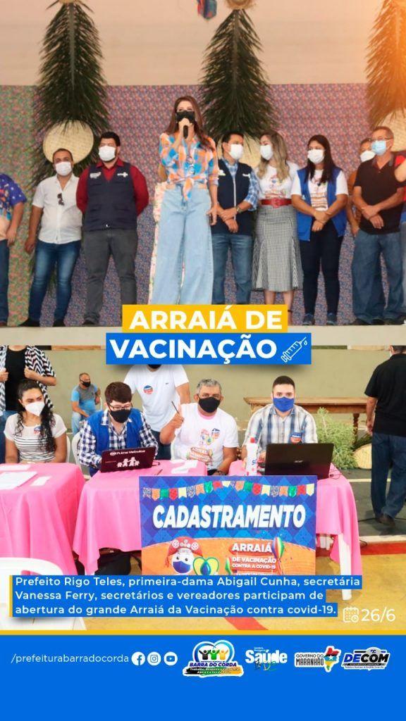 2606 prefeitura de barra do corda vacina em arraia da vacinacao quase 6 mil pessoas em um unico dia 3 576x1024 - 26/06: Prefeitura de Barra do Corda vacina em Arraiá da Vacinação quase 6 mil pessoas em um único dia
