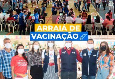26/06: Prefeitura de Barra do Corda vacina em Arraiá da Vacinação quase 6 mil pessoas em um único dia