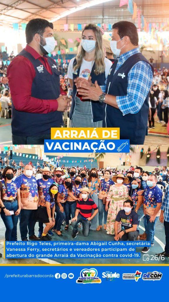 2606 prefeitura de barra do corda vacina em arraia da vacinacao quase 6 mil pessoas em um unico dia 4 576x1024 - 26/06: Prefeitura de Barra do Corda vacina em Arraiá da Vacinação quase 6 mil pessoas em um único dia