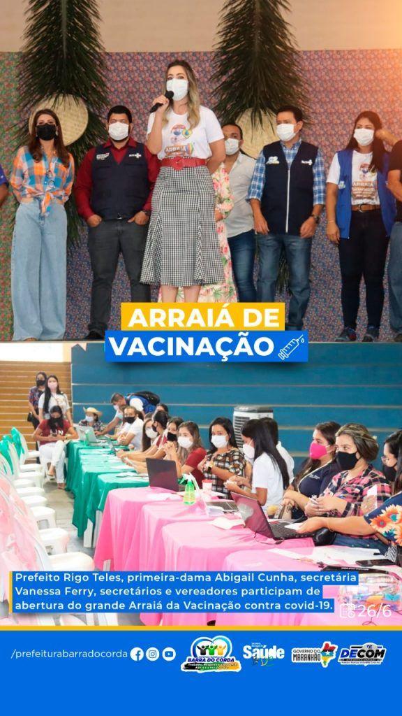 2606 prefeitura de barra do corda vacina em arraia da vacinacao quase 6 mil pessoas em um unico dia 5 576x1024 - 26/06: Prefeitura de Barra do Corda vacina em Arraiá da Vacinação quase 6 mil pessoas em um único dia