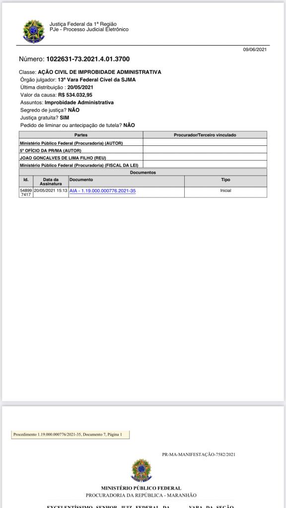 mpf denuncia na justica federal o ex prefeito de itaipava do grajau joaozinho e pede devolucao de r 534 mil 576x1024 - MPF denuncia na Justiça Federal o ex-prefeito de Itaipava do Grajaú, Joãozinho, e pede devolução de R$ 534 mil