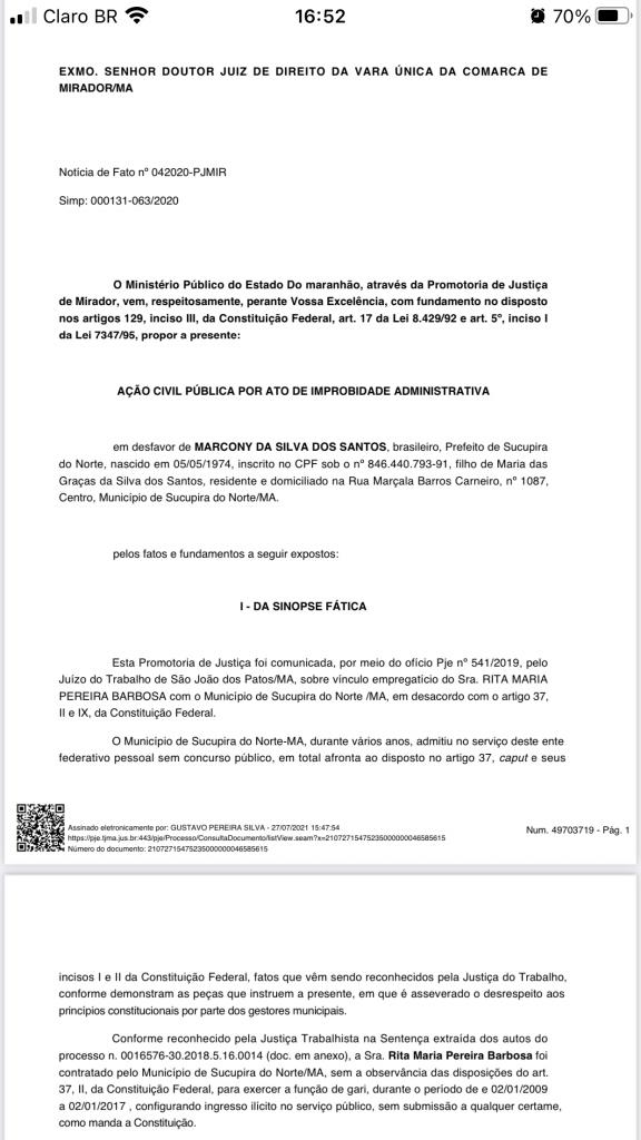 29 de julho mp pede na justica condenacao do prefeito de sucupira do norte por contratar duas pessoas sem concurso publico 1 576x1024 - 29 DE JULHO: MP pede na Justiça condenação do prefeito de Sucupira do Norte por contratar duas pessoas sem concurso público