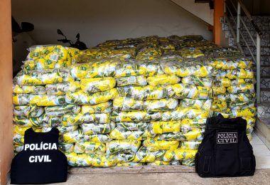 Polícia Civil do Maranhão recupera 700 fardos de café que foram roubados no Piauí