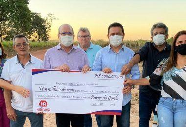 Hildo Rocha destina R$ 1 milhão de reais para Rigo Teles recuperar a estrada de Três Lagoas do Manduca