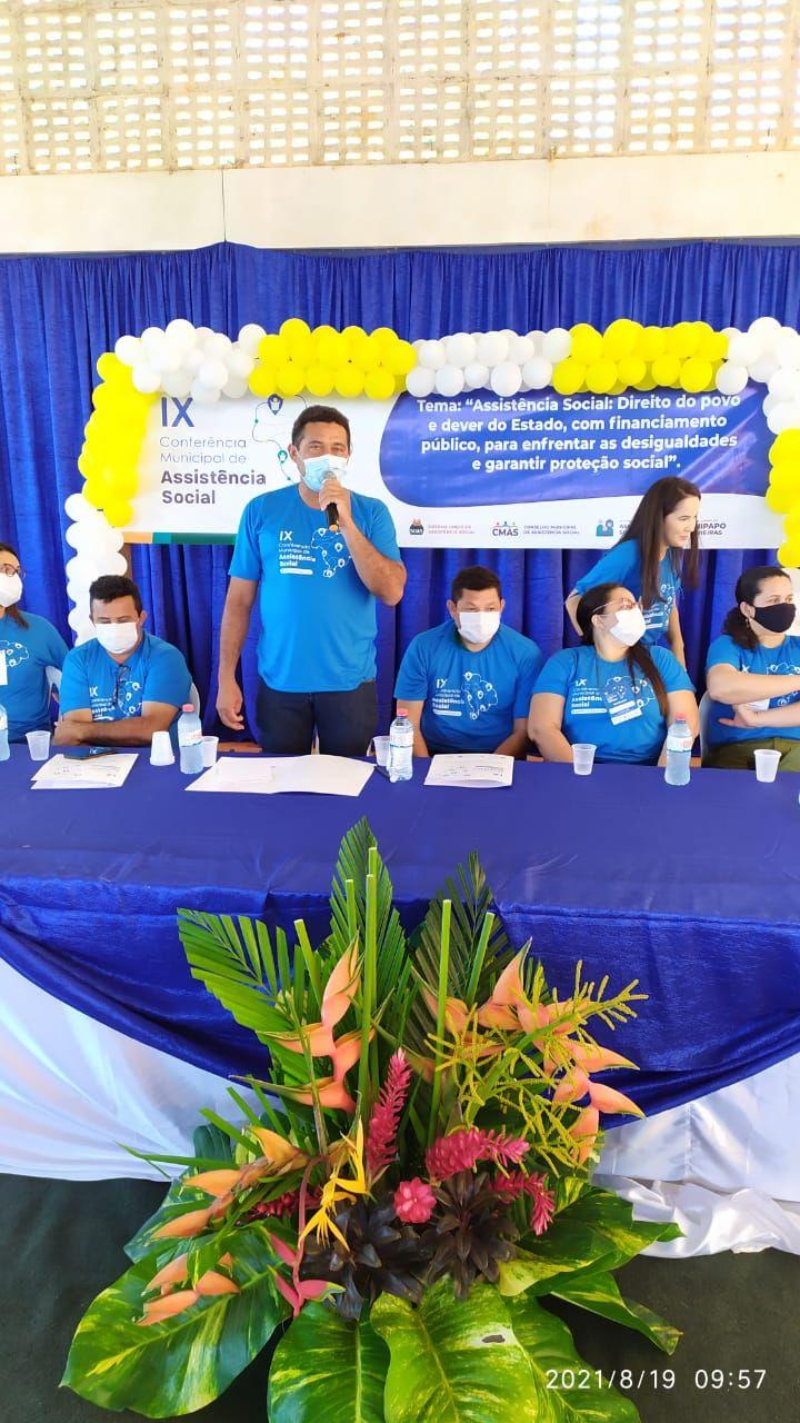 Prefeito Arnóbio participa da IX Conferência da Assistência Social em Jenipapo dos Vieiras