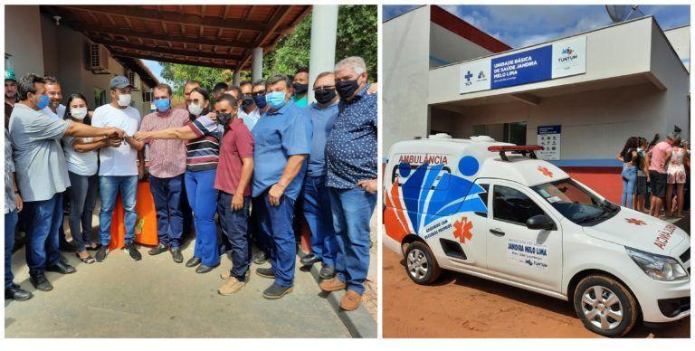 Prefeito Fernando Pessoa cumpre mais uma promessa e entrega ambulância aos moradores do povoado São Lourenço, em Tuntum
