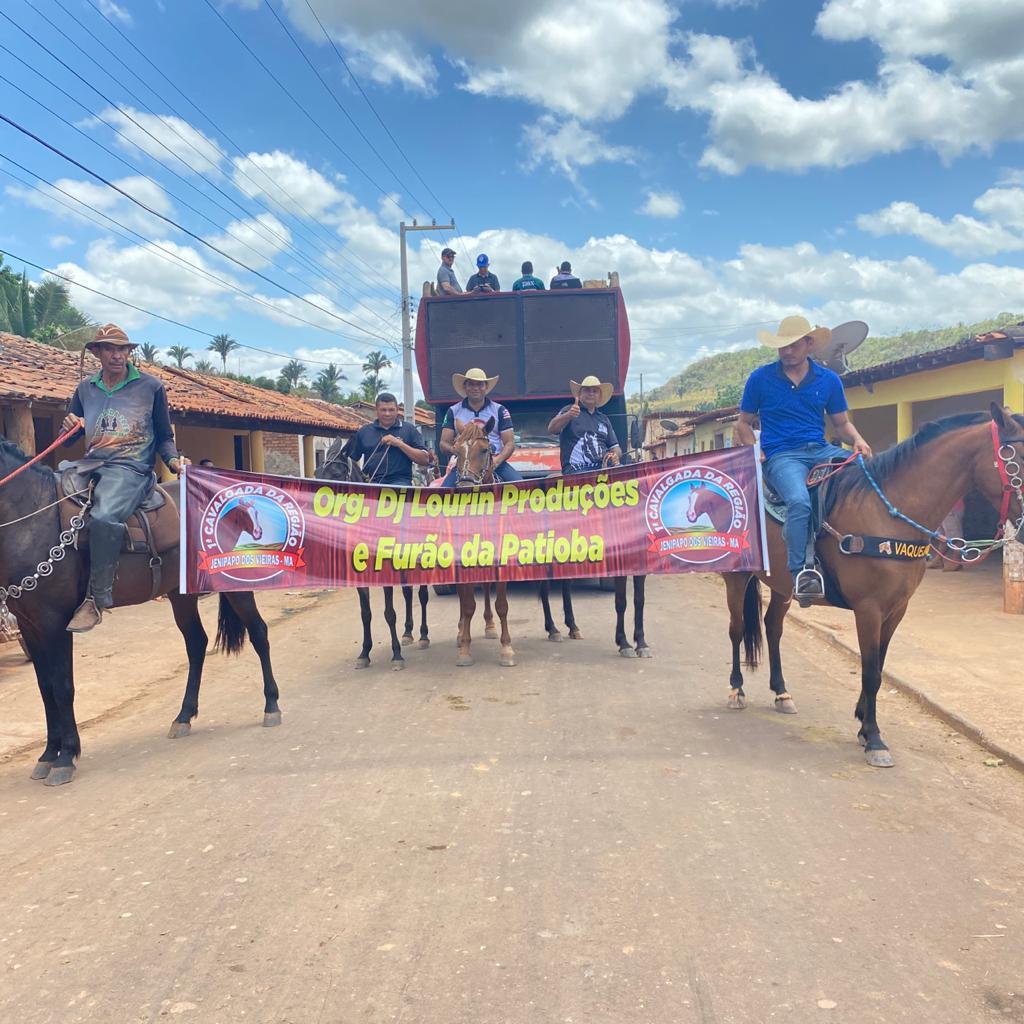 prefeito arnobio e primeira dama elane participam de grande cavalgada em jenipapo dos vieiras 3 - Prefeito Arnóbio e primeira-dama Elane participam de grande cavalgada em Jenipapo dos Vieiras