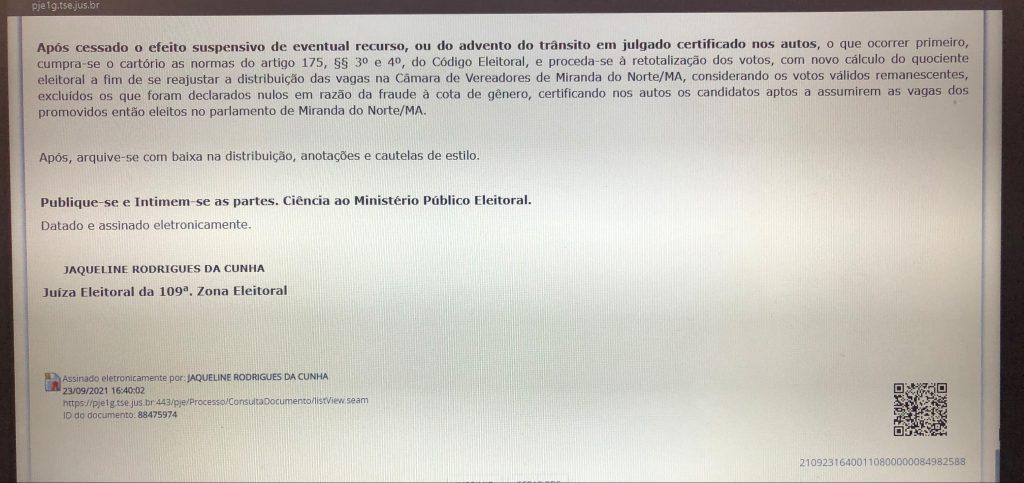 urgente justica eleitoral do maranhao cassa os mandatos de seis vereadores de miranda do norte 1 1024x483 - URGENTE!! Justiça Eleitoral do Maranhão cassa os mandatos de seis vereadores de Miranda do Norte