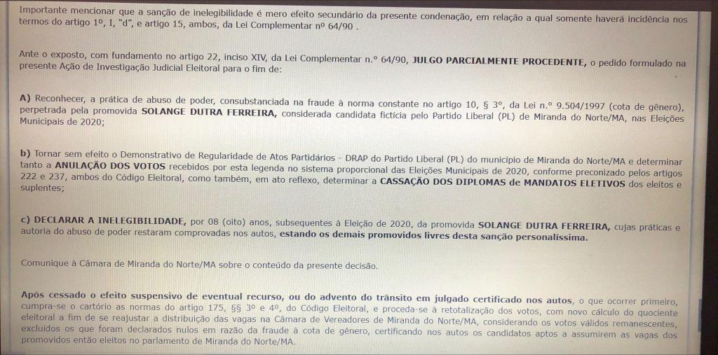 urgente justica eleitoral do maranhao cassa os mandatos de seis vereadores de miranda do norte 1024x507 - URGENTE!! Justiça Eleitoral do Maranhão cassa os mandatos de seis vereadores de Miranda do Norte