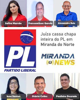 URGENTE!! Justiça Eleitoral do Maranhão cassa os mandatos de seis vereadores de Miranda do Norte