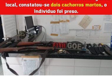 CRUELDADE: Homem mata dois cachorros a tiros em Barra do Corda e é preso pela Polícia Militar em flagrante