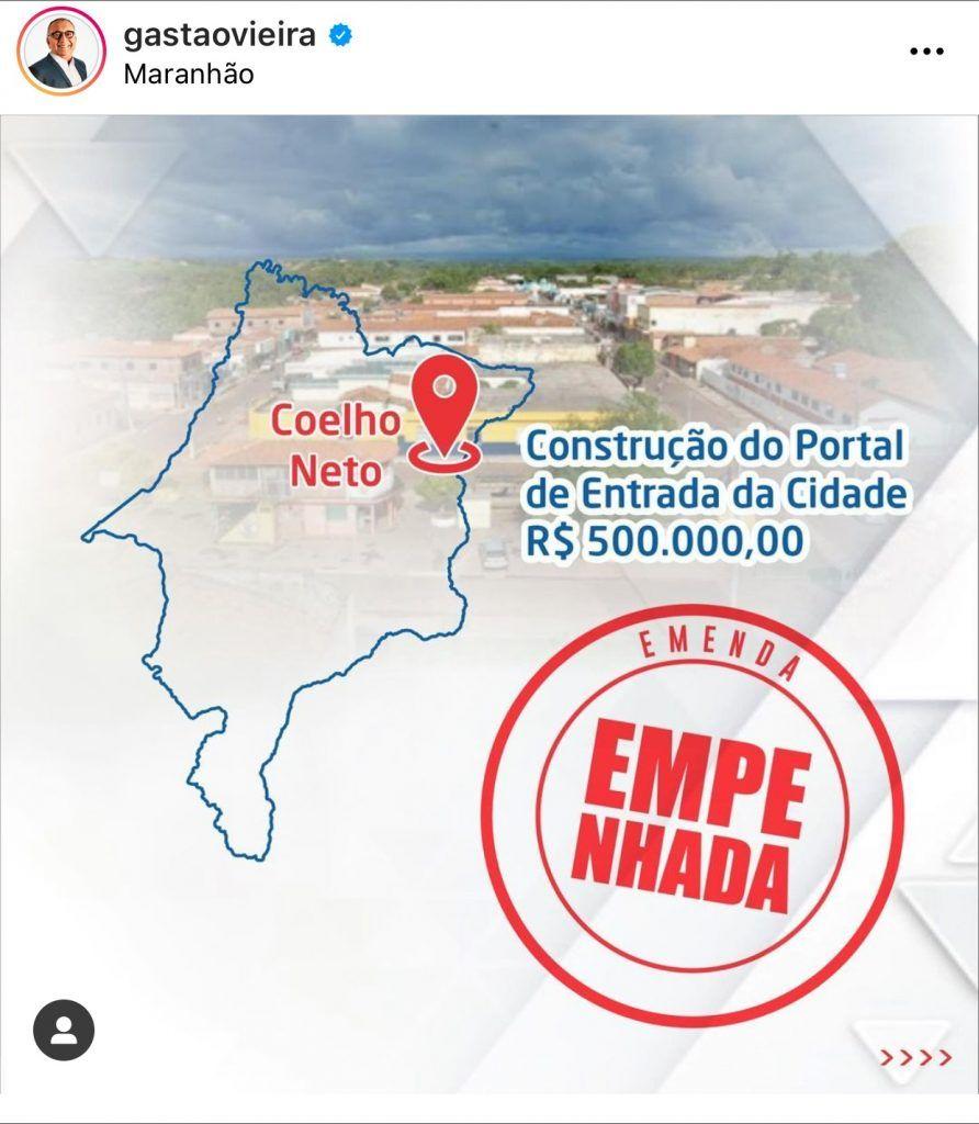 deputado federal do maranhao envia r 500 mil para construcao de uma rodoviaria e mais r 500 mil para construcao do portal de uma cidade 1 892x1024 - Deputado Federal do Maranhão envia R$ 500 mil para construção de uma rodoviária e mais R$ 500 mil para construção do portal de uma cidade