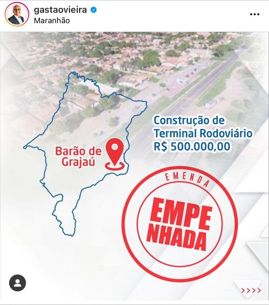 deputado federal do maranhao envia r 500 mil para construcao de uma rodoviaria e mais r 500 mil para construcao do portal de uma cidade 902x1024 - Deputado Federal do Maranhão envia R$ 500 mil para construção de uma rodoviária e mais R$ 500 mil para construção do portal de uma cidade