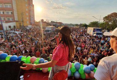 Prefeito Rigo Teles e Abigail Cunha participam de mega festa alusiva ao Dia das Crianças em Barra do Corda